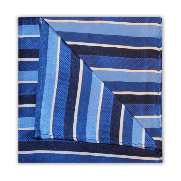 NAVY/BLUE STRIPED SQUARE