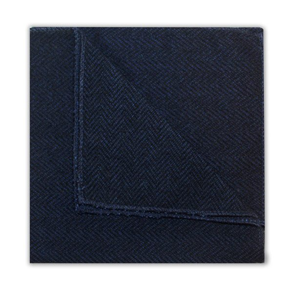 NAVY HERRINGBONE SQUARE-0