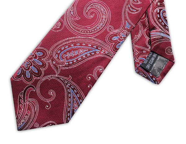 RED FLORAL TIE-0