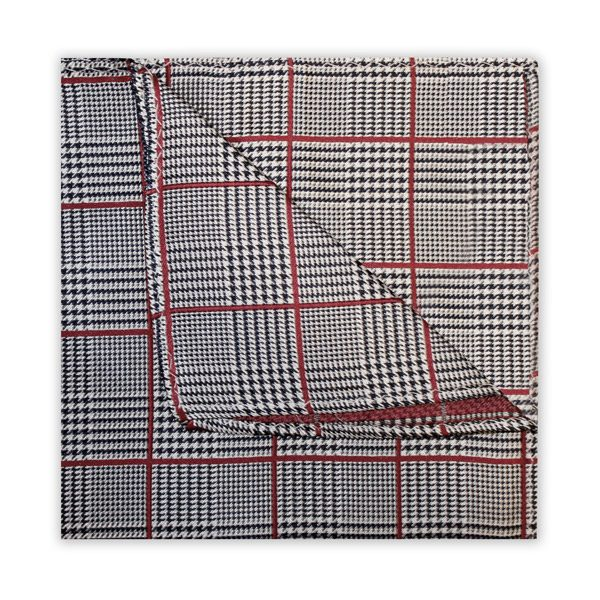 BLACK/RED PRINCE OF WALES CHECK SQUARE-0