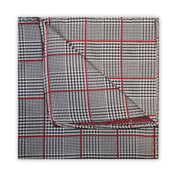 BLACK/RED PRINCE OF WALES CHECK SQUARE