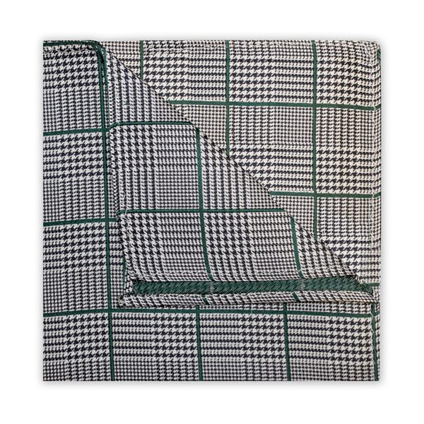 BLACK/GREEN PRINCE OF WALES CHECK SQUARE-0