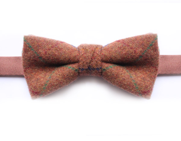 ORANGE CHECK BOW TIE