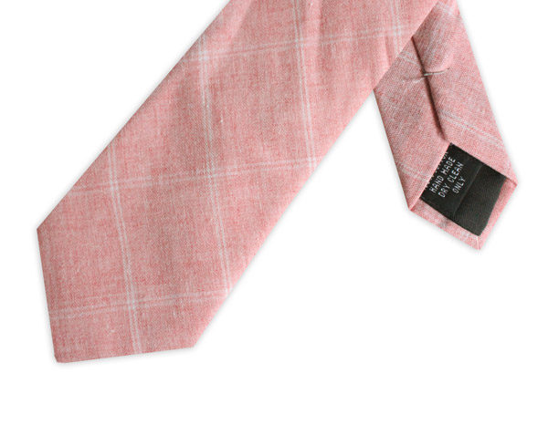 SALMON PINK COTTON TIE-0