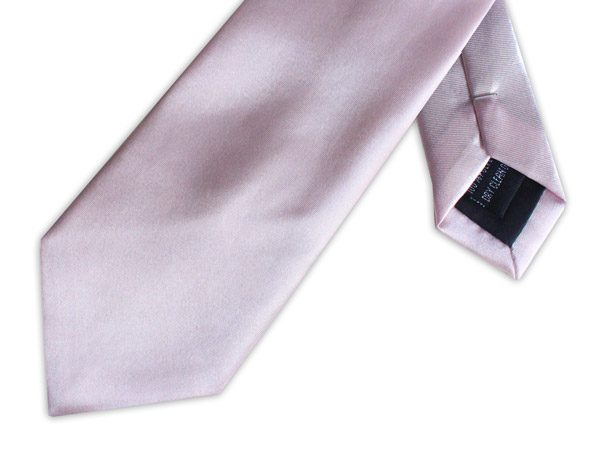 LIGHT PINK POLY SATIN TIE-0
