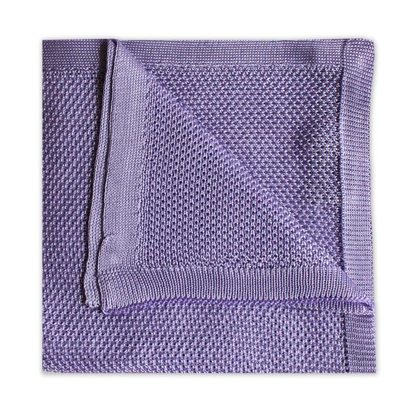 LILAC KNITTED SILK SQUARE-0