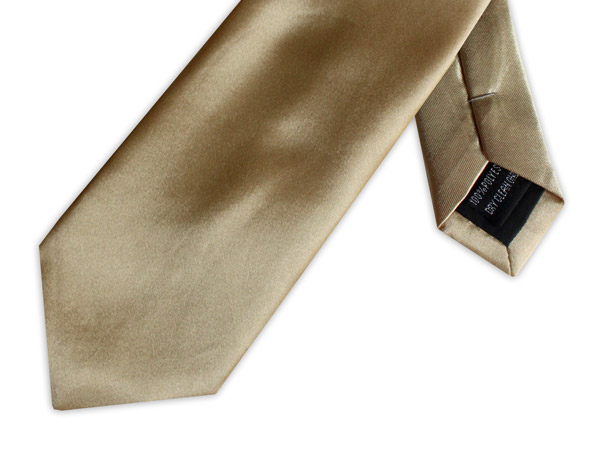 GOLD POLY SATIN TIE