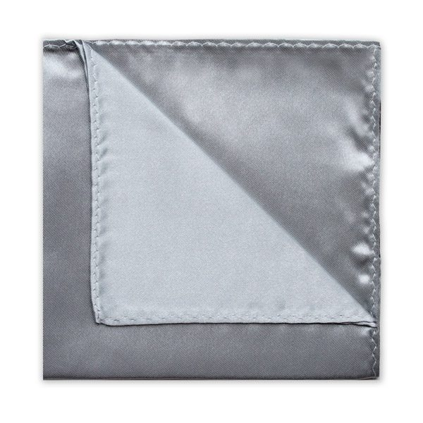 SILVER POLY SATIN SQUARE-0
