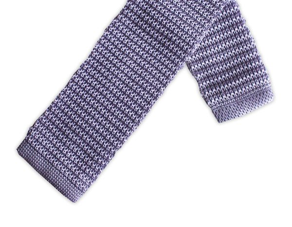 LILAC SILK KNITTED TIE-0