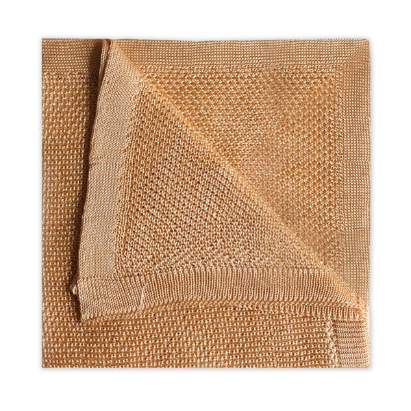 PASTEL ORANGE KNITTED SILK SQUARE-0