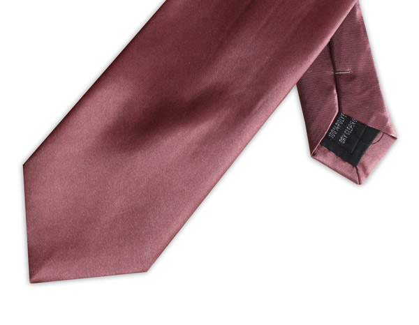 SOFT BURGUNDY POLY SATIN TIE