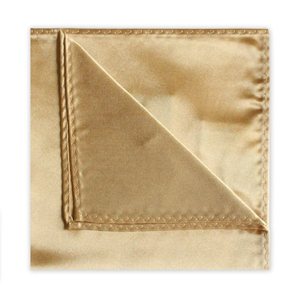 GOLD POLY SATIN SQUARE-0