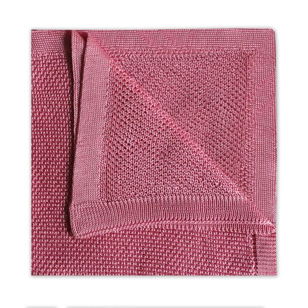 PINK KNITTED SILK SQUARE-0