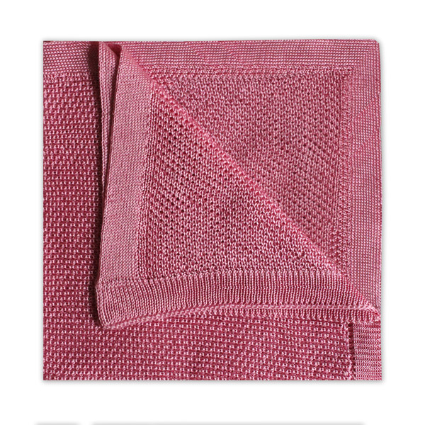 PINK KNITTED SILK SQUARE