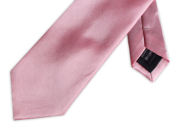 BRIGHT PINK POLY SATIN TIE