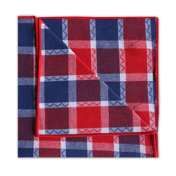 NAVY/RED CHECK SQUARE