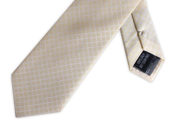 LEMON YELLOW CHECK TIE-0