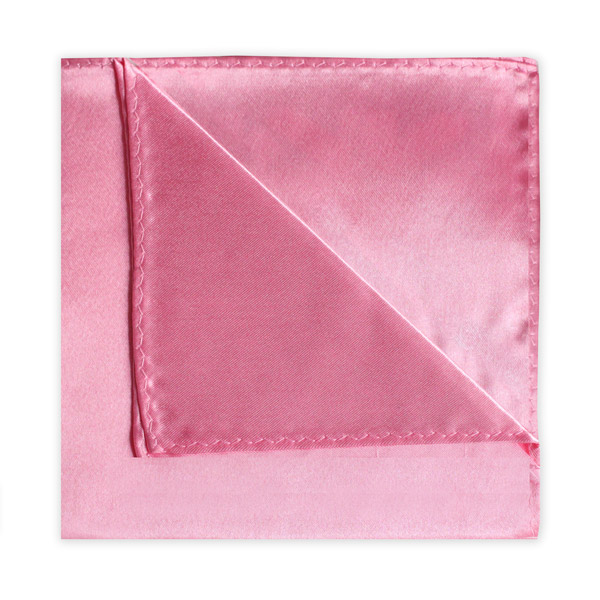 BRIGHT PINK POLY SATIN SQUARE