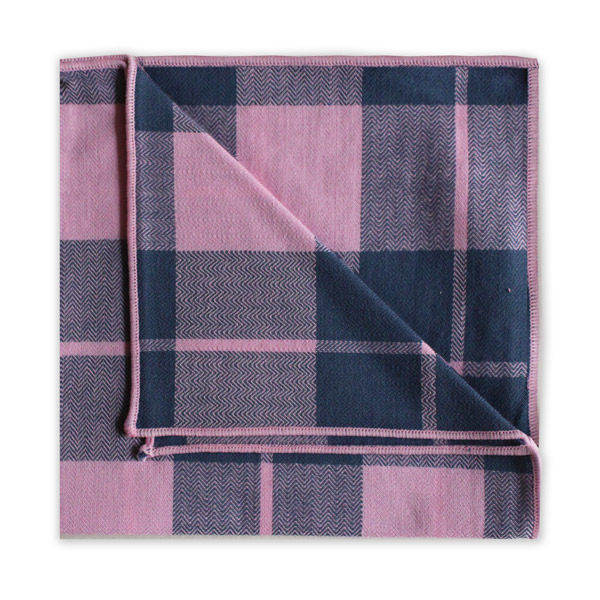 NAVY/PINK CHECK SQUARE