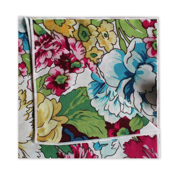 PINK/YELLOW/BLUE FLORAL SQUARE