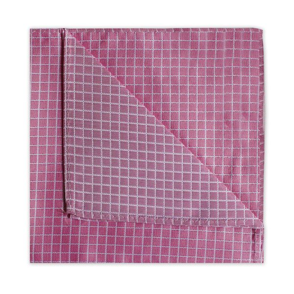BRIGHT PINK CHECK SQUARE-0