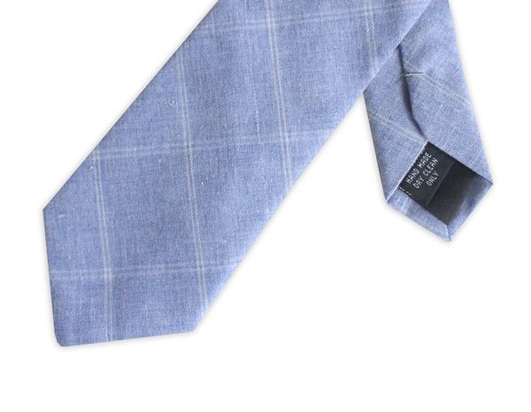 LIGHT BLUE COTTON TIE-0