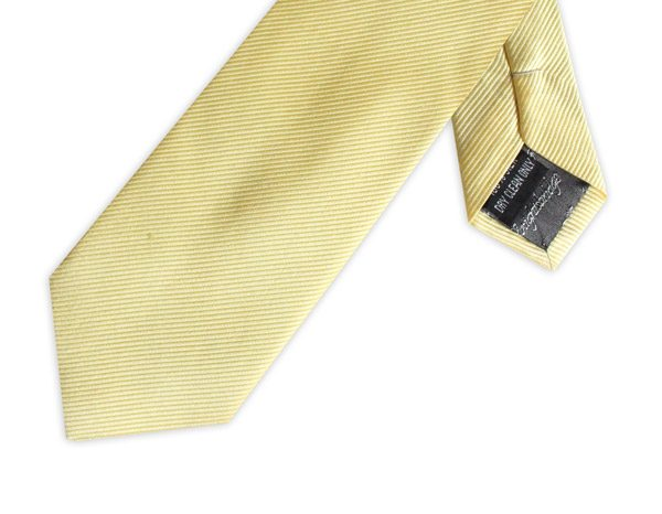 YELLOW SILK TIE-0