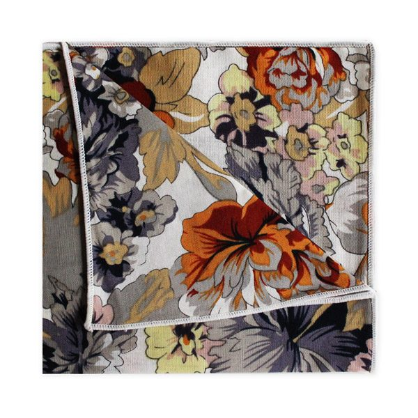 GREY/YELLOW/ORANGE FLORAL SQUARE-0