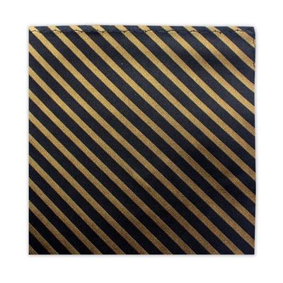 BLACK & GOLD STRIPE SQUARE-0