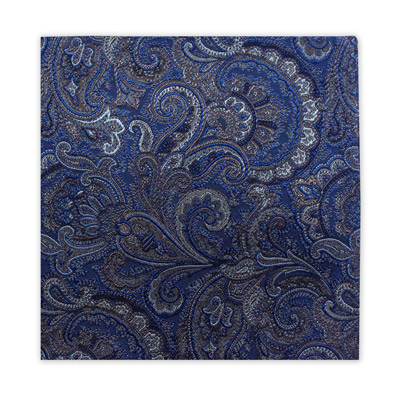 BLUE, BROWN & GREY FLORAL SQUARE