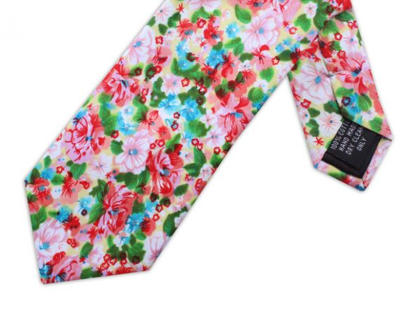WATERCOLOUR FLORAL TIE-0