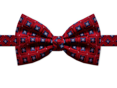 RED & BLUE SQUARE DETAIL BOW TIE-0