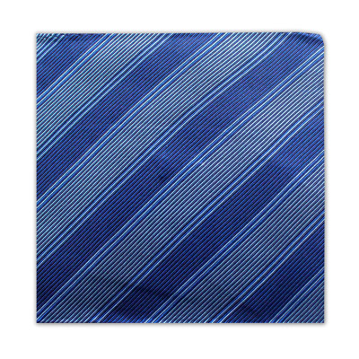 BLUE & GREY STRIPE SQUARE