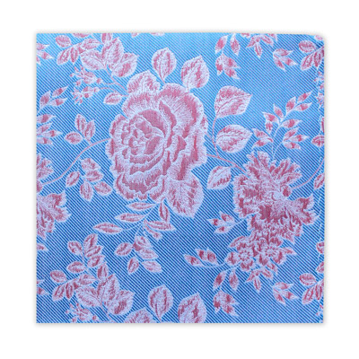SKY BLUE & PINK LARGE FLORAL SQUARE