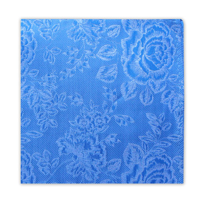 SKY BLUE LARGE FLORAL SQUARE