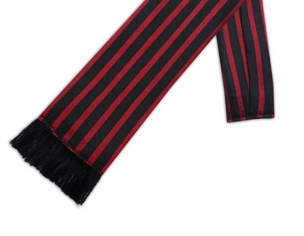 BLACK & RED STRIPE RETRO TIE-0