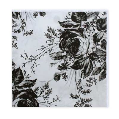 WHITE & BLACK FLORAL SQUARE-0