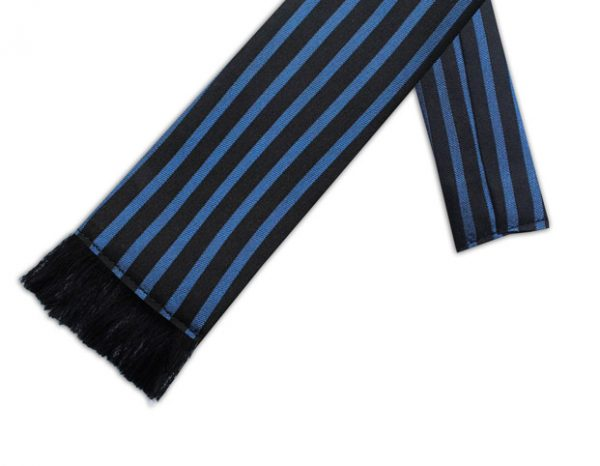 BLACK & BLUE STRIPE RETRO TIE-0