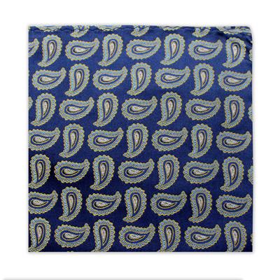 ROYAL BLUE PAISLEY SQUARE-0