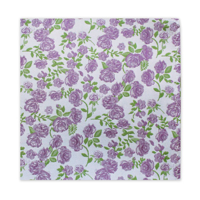 SMALL LILAC FLORAL SQUARE-0