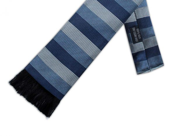 BLUE STRIPE RETRO TIE-0