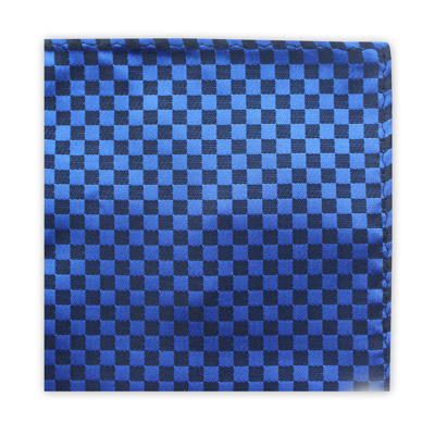 BLUE & BLACK CHECKER BOARD SQUARE-0