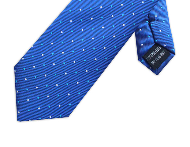SKY BLUE & WHITE POLKA DOT XL TIE