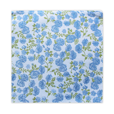 SMALL BLUE FLORAL SQUARE-0
