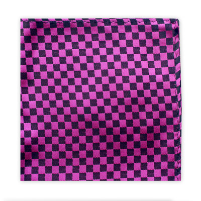 PINK & BLACK CHECKER BOARD SQUARE-0