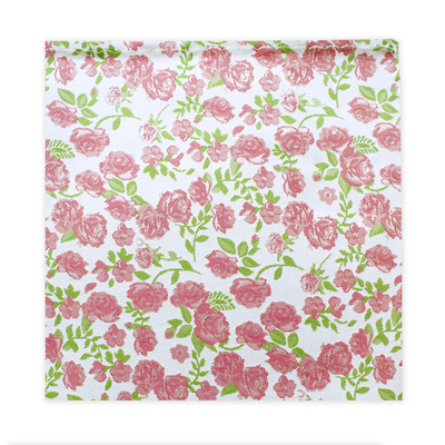 SMALL PINK FLORAL SQUARE