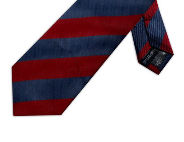 RED & NAVY DIAGONAL STRIPE TIE-0
