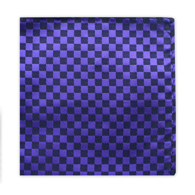 PURPLE & BLACK CHECKER BOARD SQUARE-0