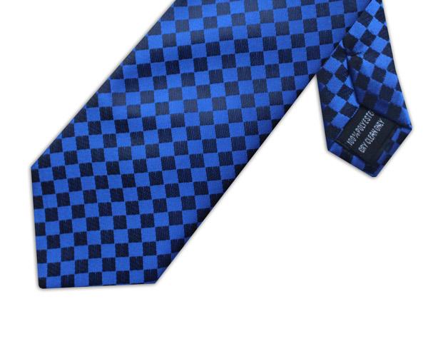 BLUE & BLACK CHECKER BOARD XL TIE