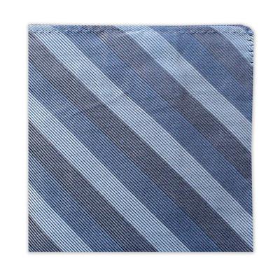 GREY & BLUE STRIPE SQUARE-0